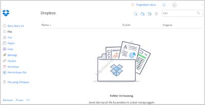 Layanan penyimpanan data berbasis web sekarang semakin terkenal Cara Membuat Akun Dropbox
