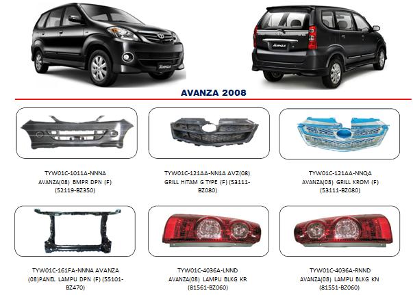 Bemper Toyota Avanza 2008
