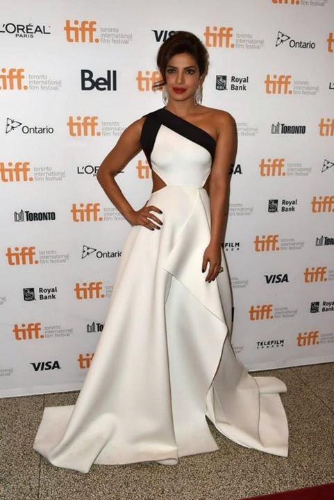 Priyanka Chopra Glams-up in a White Gown