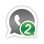 download 2lines for whatsapp to open more than one  accaent on one device