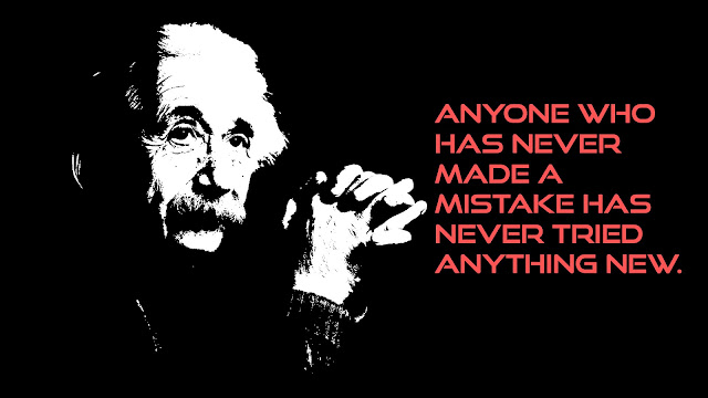 who has never made a mistake Albert Einstein sayings
