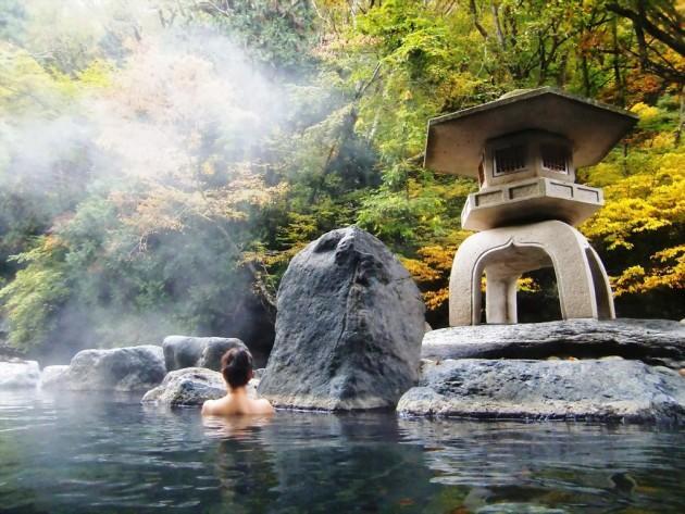 Bí quyết số 6 – Tận dụng suối nước nóng