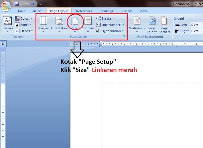 Cara Mengatur Ukuran Kertas Pada Microsoft Word 2007 - Sinau Komputer