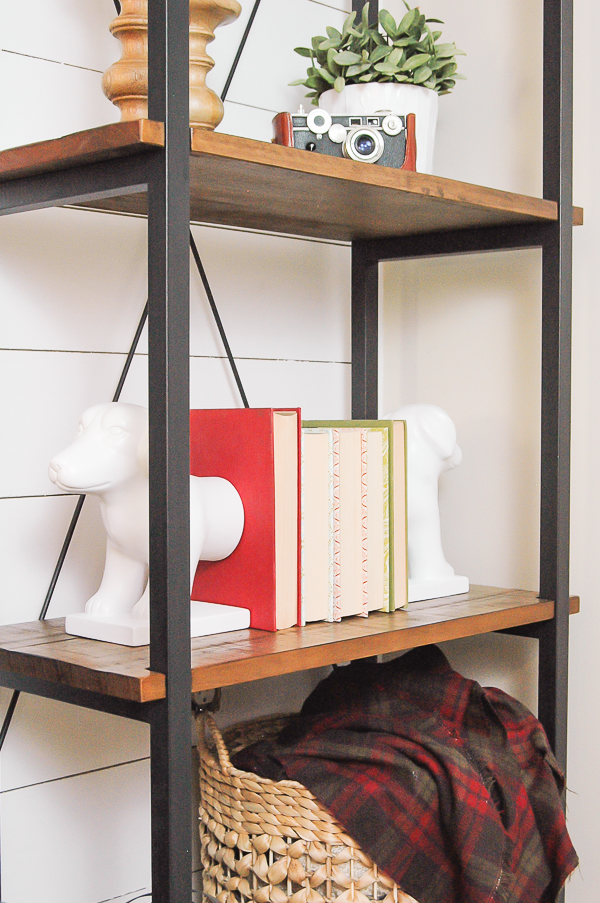 industrial farmhouse mixed material shelf