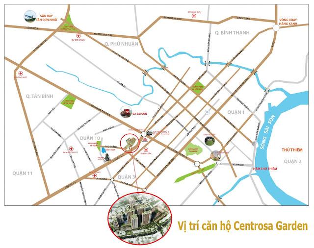 Vị trí căn hộ Centrosa Garden Hà Đô