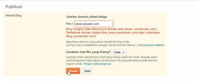 settingan dasar blogspot
