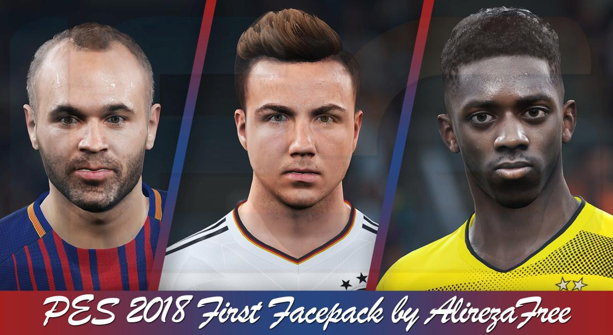 PES 2018 First Facepack by AlirezaFree