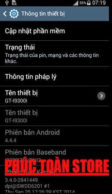 Tiếng Việt Samsung S3 neo I9300I 4.4.4 alt