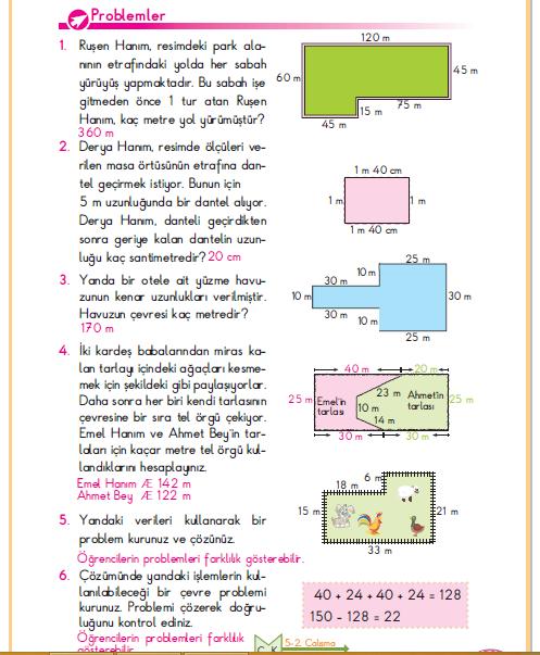 3. Sınıf Berkay Yayınları Matematik Ders Kitabı 161.Sayfa Cevapları