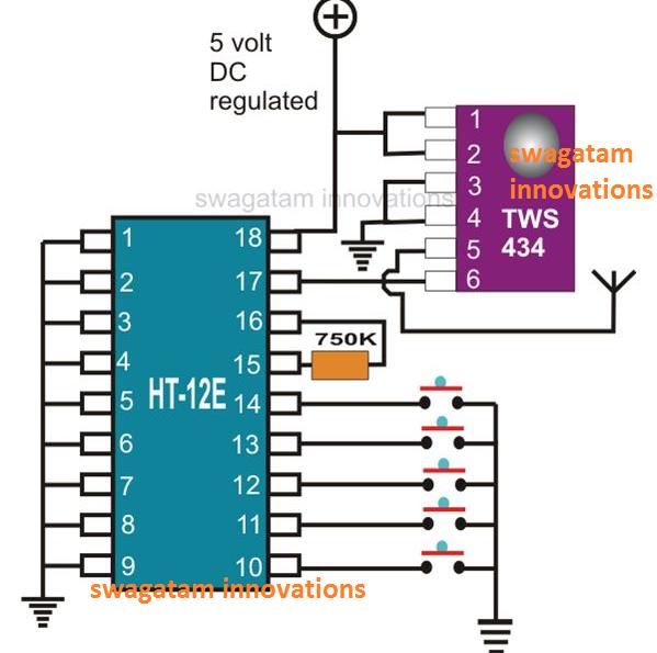 Rf Transmitter Module Circuit Diagram