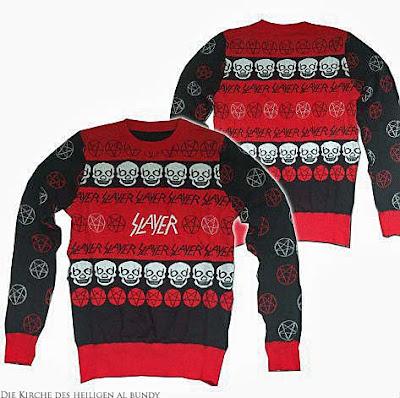Heavy Metal Weihnachtspullover Mann Slayer lustig