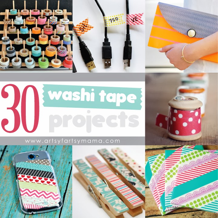 30 Washi Tape Projects at artsyfartsymama.com