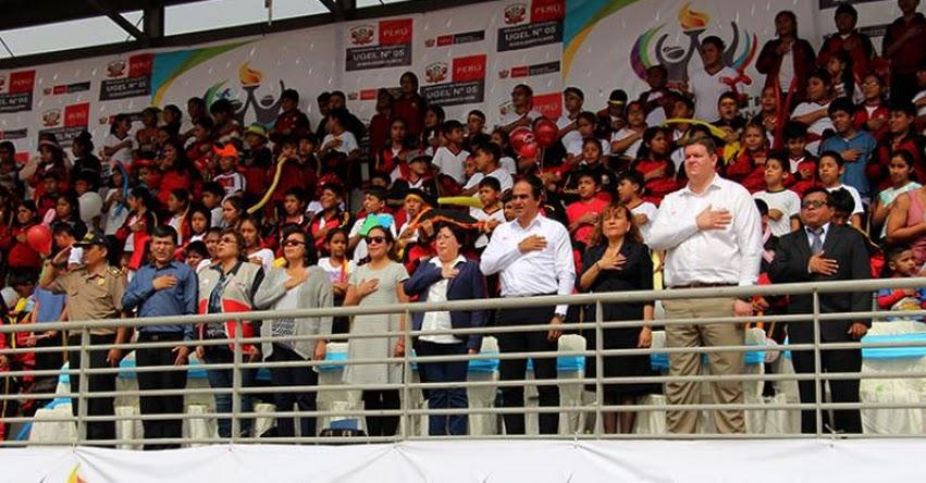 Viceministra inaugura Juegos Deportivos Escolares en la UGEL 05 - www.ugel05.gob.pe