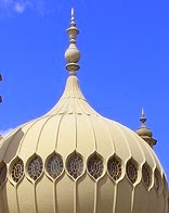 A white onion-shaped roof