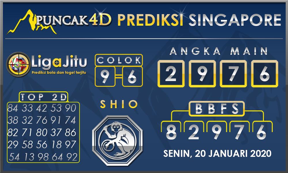 PREDIKSI TOGEL SINGAPORE PUNCAK4D 20 JANUARI2020