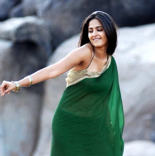 Anushka Shetty Hot Navel in Saree - Actress Album