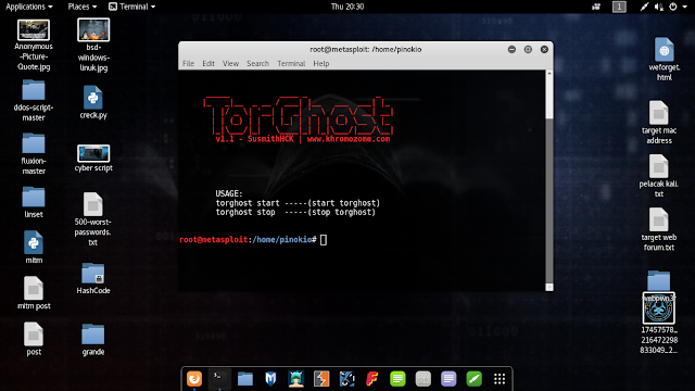 cara menyembunyikan ip dengan tool torghost
