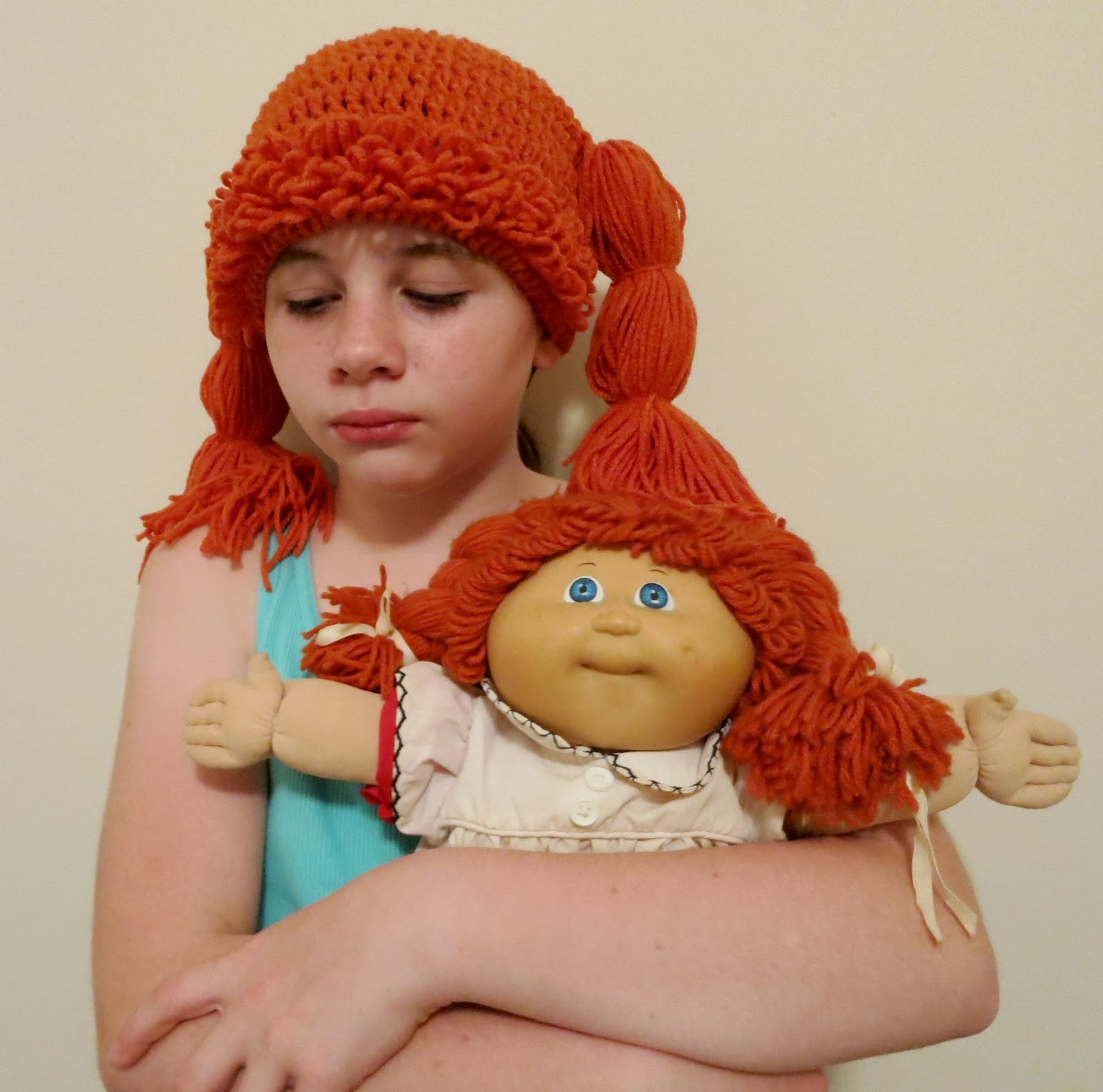The Cabbage Patch Kids inspired crochet hat