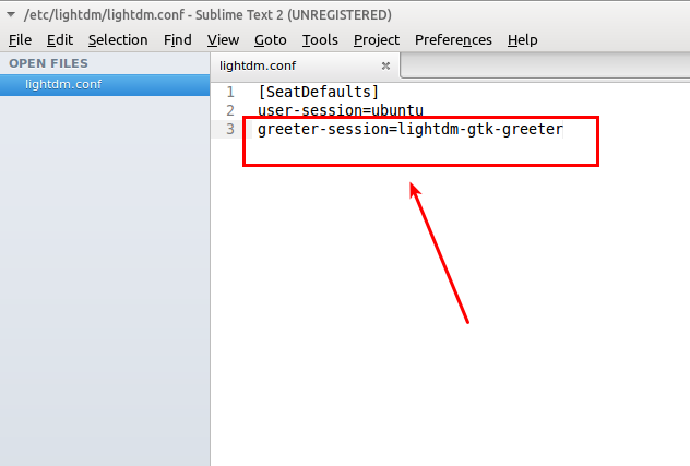 Fix Lightdm error: