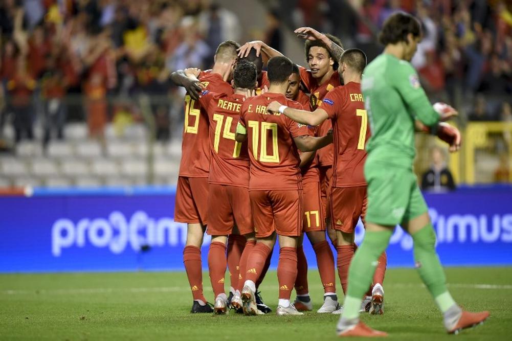 فيديو : لوكاكو يقود بلجيكا للفوز على سويسرا بهدفين مقابل هدف فى  دوري الأمم الأوروبية 2018/2019