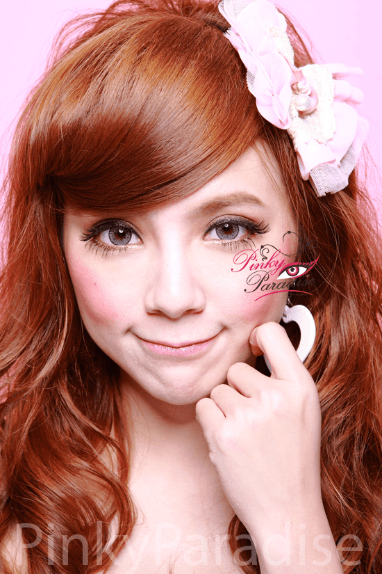 Geo Nudy Blue Circle Lenses (Colored Contacts) Model 2