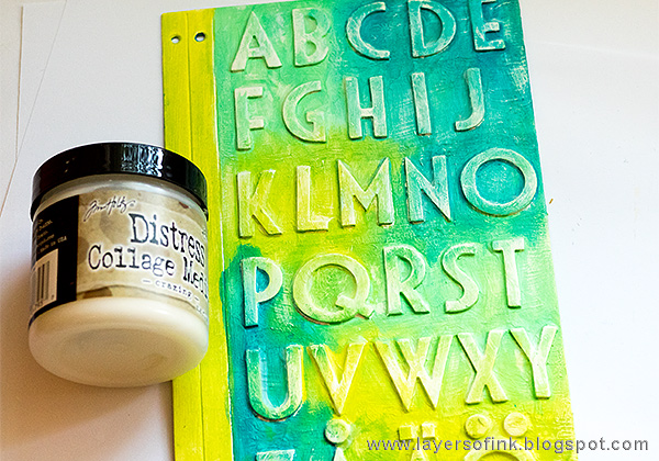 Layers of ink - Alphabet Notebook Tutorial by Anna-Karin with Sizzix Eileen Hull Journal die