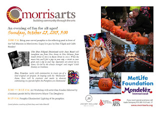 Morris Arts Hosts 6th Annual ''Pumpkin Illumination'' on Sunday in Morristown