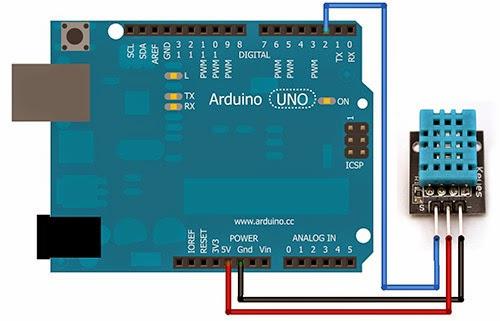 Jubito arduino temperature and humidity using dht