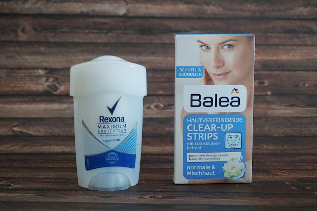 Balea - Clear-up Strips, Rexona - Deo-Creme Maximum Protection Clean Scent