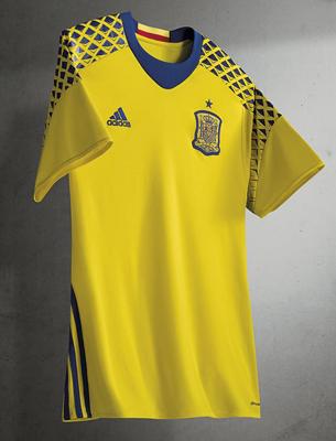 6e916a9b0b4c1 segunda camiseta selección española Eurocopa 2016 replica oficial camiseta  portero segunda equipación selección española de fútbol Eurocopa 2016