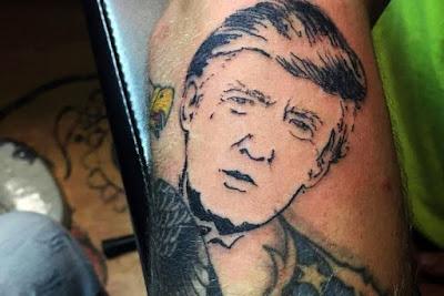 Tatuaje de Donald Trump
