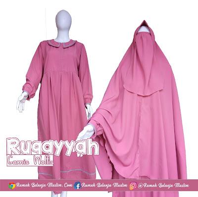 Gamis Syar'i Wolfis Ruqayyah Pink