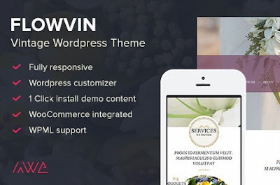 Flowvin v1.10 Vintage Flower Shop Wordpress Theme