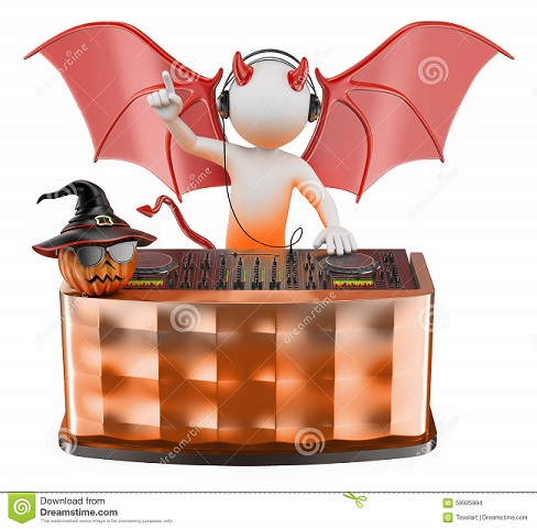 https://www.dreamstime.com/stock-illustration-d-white-people-dj-playing-music-halloween-party-devil-costume-background-image59925994#res4728141