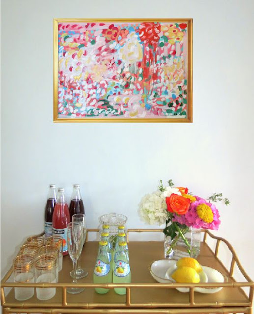 styling a beverage cart tea cart entertaining