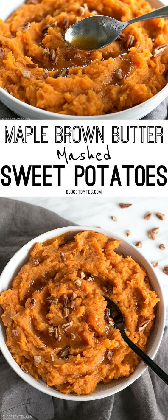 MAPLE BROWN BUTTER MASHED SWEET POTATOES