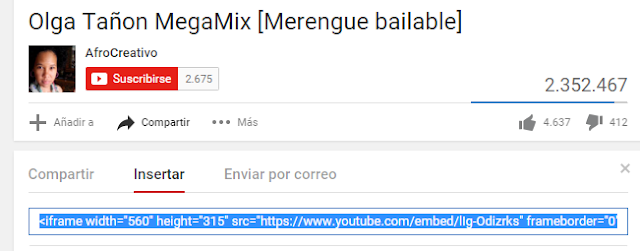 Insertar video youtube en tu blog 1