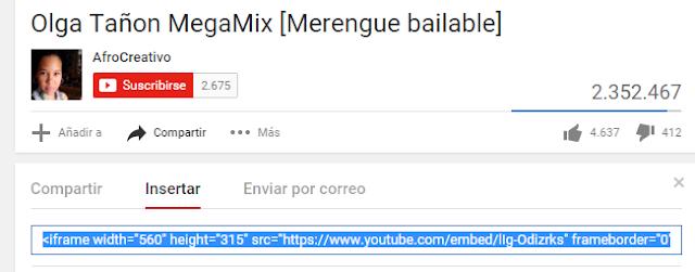 Insertar video youtube en tu blog 1
