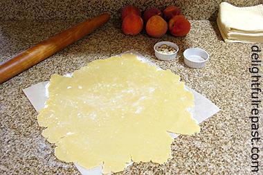 Peach Frangipane Galette - Rustic Tart (this photo the easy pastry) / www.delightfulrepast.com