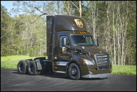 New CNG Powered UPS Freightliner daycab