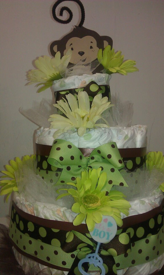 Adrianas Creations FLORAL DIAPER CAKES