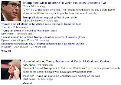 Trump s Christmas meme:  I am all alone.