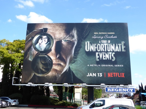 Lemony Snicket Series of Unfortunate Events series billboard