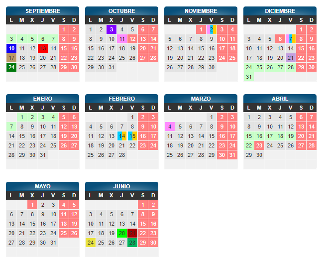 Calendario Escolar 2019 Aragon.Ies Pedro Cerrada Calendario Escolar 2018 19