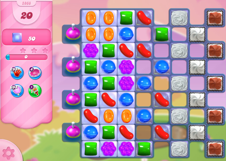 Candy Crush Saga level 2868