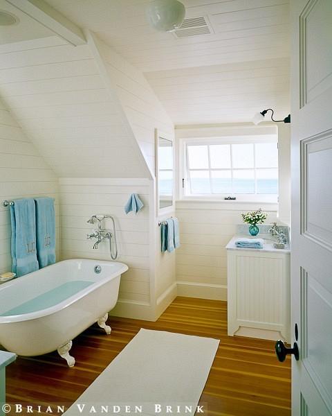attic den ideas - To da loos Slanted ceiling bathrooms