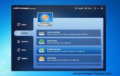 AOMEI Backupper Standard File Backup