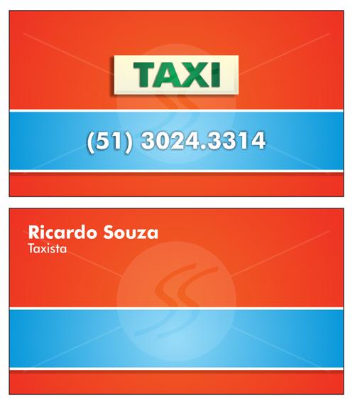 Cartão de Visita Taxista Laranja