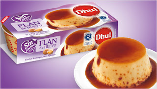 Prueba el flan de huevo son lactosa de Dhul