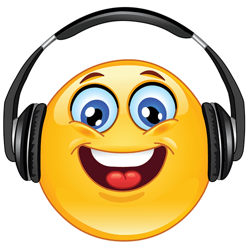 Smiley Listening to Music
